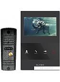 Комплект видеодомофона Slinex ML-16HR+SQ-04M (черный)
