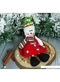 Мягкая игрушка Зимнее волшебство Снеговик в платьишке, 9*25 см