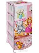 Комод для игрушек ВиолетПласт Кукла